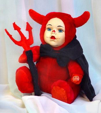 Меховая кукла «Чертёнок»