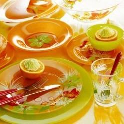 Сервиз столовый LUMINARC Pop Flowers Orange