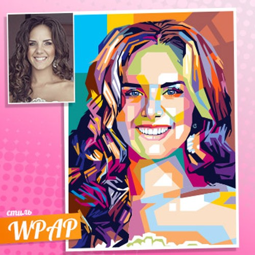 WPAP портрет девушки по фото
