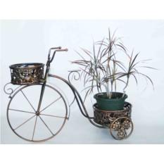 Подставка для цветов Велосипед с двумя корзинками