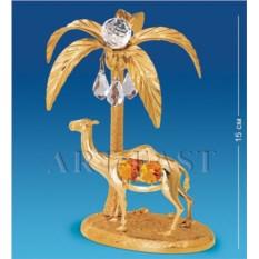Фигурка с цветными кристаллами Swarovski Верблюд с пальмой