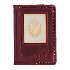 Обложка для паспорта из кожи «ФСБ»