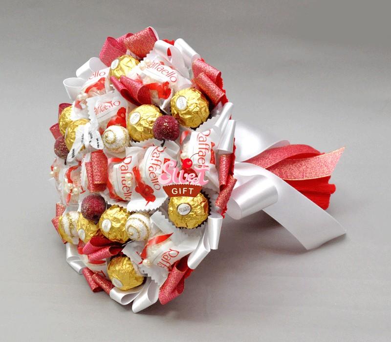 Букет из конфет Яблоки на снегу