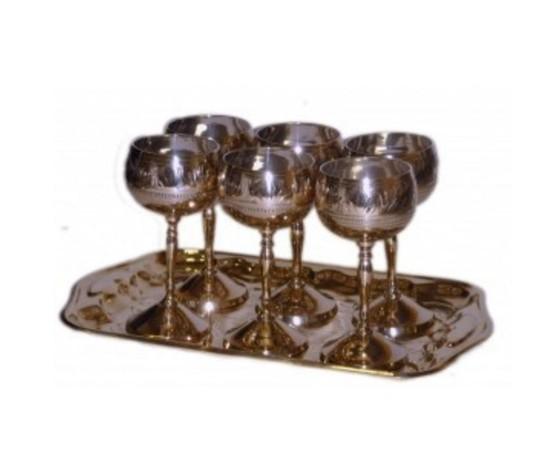 Подарочный набор для ликеров и крепких напитков 6 Бокалов