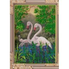 Набор для вышивания бисером Фламинго от Светлица
