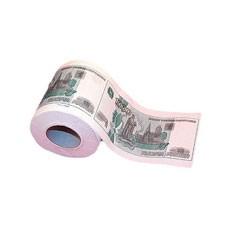 Прикольная туалетная бумага 1000 рублей