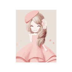 Картина по номерам «Девочка-весна»