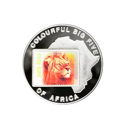 Коллекционная монета «Африка: марка со львом»