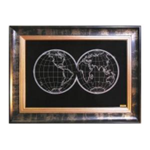 Картина с кристаллами Swarovski «Карта мира»