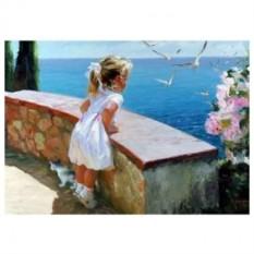 Картина-раскраска по номерам на холсте Ялта