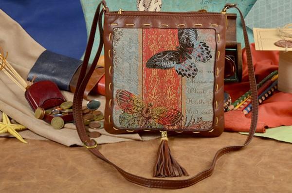 Женская сумка-планшет с принтом Две бабочки