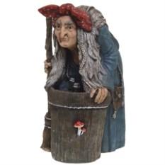 Декоративная садовая фигурка Баба Яга