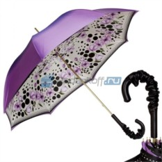 Женский зонт-трость Pasotti Viola Poppy Pelle