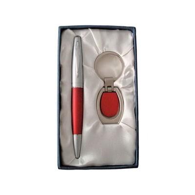 Набор: ручка, брелок; красный