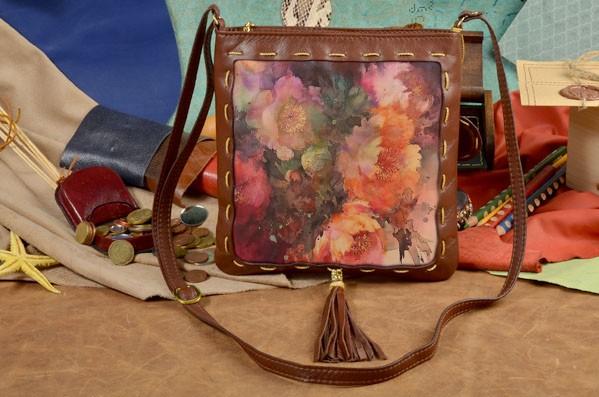 Женская сумка-планшет с принтом Красивые цветы