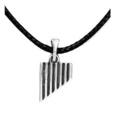 Кулон из серебра Свирель
