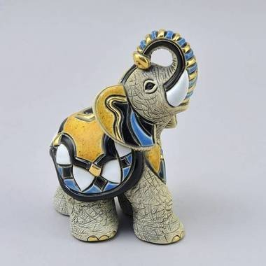 Керамическая статуэтка с позолотой Слон Азиатский