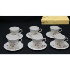 Фарфоровый чайный набор из 12 предметов