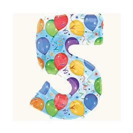 Цифра 5, с рисунком
