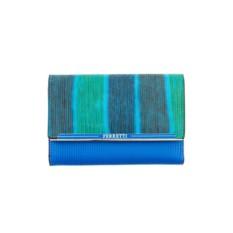 Женский бирюзовый кожаный кошелек G.Ferretti