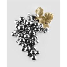 Статуэтка Гроздь винограда с золотым листочком - 3
