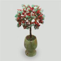 Дерево из коралла и нефрита Счастье вместе