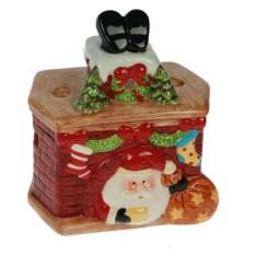 Подсвечник Дед Мороз в камине
