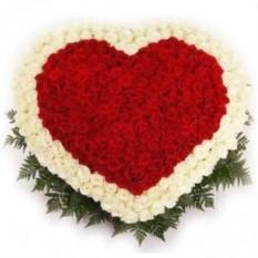 Букет Сердце из 251 розы