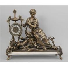 Скульптурные часы Дама с арфой