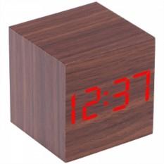 Часы-будильник «Деревянный куб»
