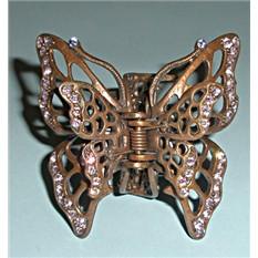 Заколка-краб из меди Сон бабочки