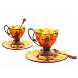 Чайный набор из янтаря Цезарь