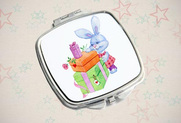 Зеркальце «Зайчик с подарками»