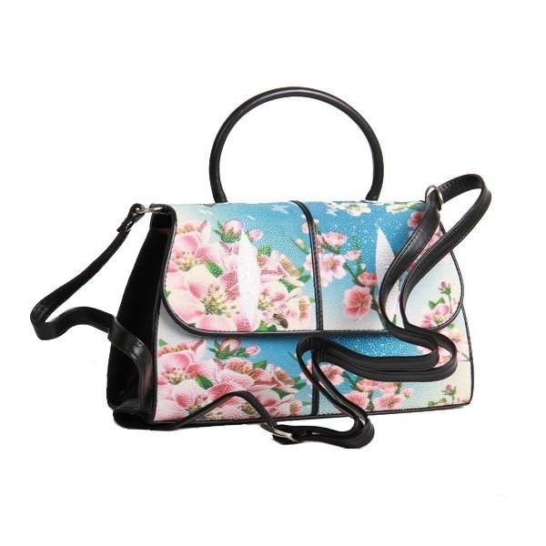 Женская сумочка из кожи ската