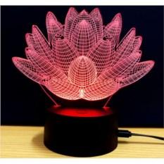 Настольная 3D-лампа Лотос