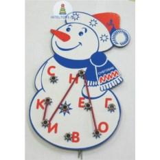 Игра-шнуровка «Снеговик»