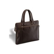 Деловая коричневая сумка Brialdi Leicester