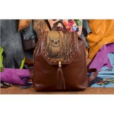Женский рюкзак с принтом Сова в кустах