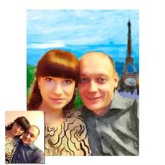 Стилизация фото под масло с заменой фона