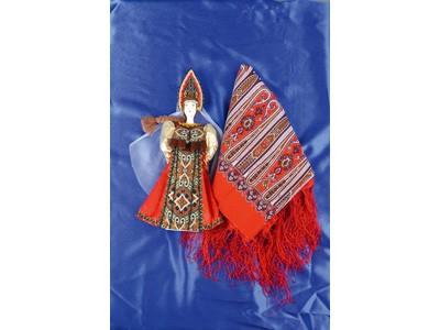 Подарочный набор: кукла в народном костюме, платок Катерина