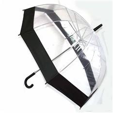 Зонт с прозрачным куполом, черный