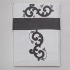 Постельное белье Old Florence Ricciolo с серой аппликацией