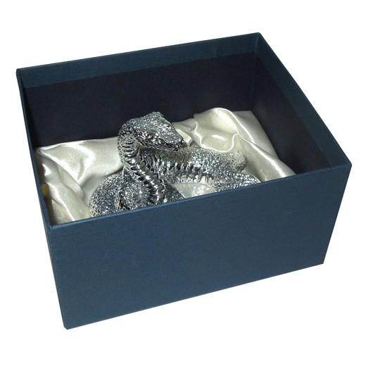 Статуэтка Королевская кобра серебро