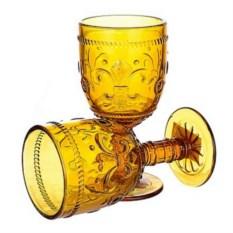 Набор из 6 бокалов из желтого стекла Greenish
