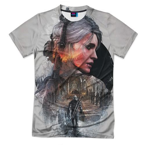 Мужская футболка 3D с полной запечаткой Девушки Ведьмака
