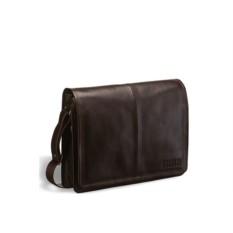 Кожаная коричневая сумка через плечо Brialdi Ancona