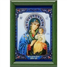 Малая икона Божией Матери со Swarovski Неувядаемый цвет