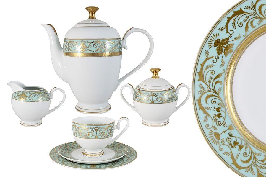 Фарфоровый чайный сервиз 23 предмета на 6 персон Шантильи