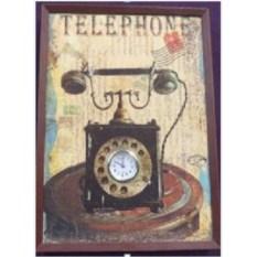 Настенные часы-коллаж Telephone