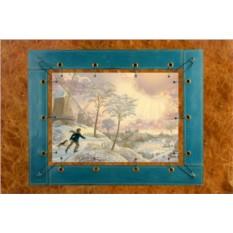 Картина из кожи Серебряные коньки Лорел Лонг